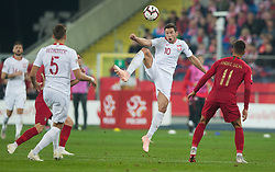 October 11, 2018 - Chorzow, Poland - Grzegorz Krychowiak (POL), Andre Silva during the UEFA Nations league match between Poland v Portugal at the Slaski Stadium on October 11, 2018 in Chorzow  (Credit Image: © Foto Olimpik/NurPhoto via ZUMA Press)