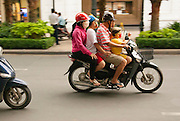 Mopeds and scooters are the transportation backbone of modern Saigon, Vietnam.