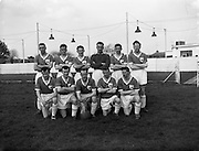 27/03/1960<br /> 03/27/1960<br /> 27 March 1960<br /> Soccer, League of Ireland: Limerick v Transport at Harold's Cross, Dublin. The Limerick team.