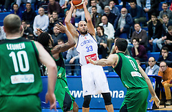 Nebojsa Joksimovic of Cibona during basketball match between KK Cibona Zagreb (CRO) and Sidigas Avellino (ITA) in Round #3 of FIBA Champions League 2016/17, on November 1, 2016 in Dražen Petrović Basketball Hall, Zagreb, Croatia. Photo by Vid Ponikvar / Sportida