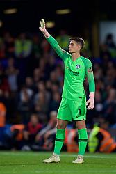 LONDON, ENGLAND - Saturday, September 29, 2018: Chelsea's goalkeeper Kepa Arrizabalaga during the FA Premier League match between Chelsea FC and Liverpool FC at Stamford Bridge. (Pic by David Rawcliffe/Propaganda)