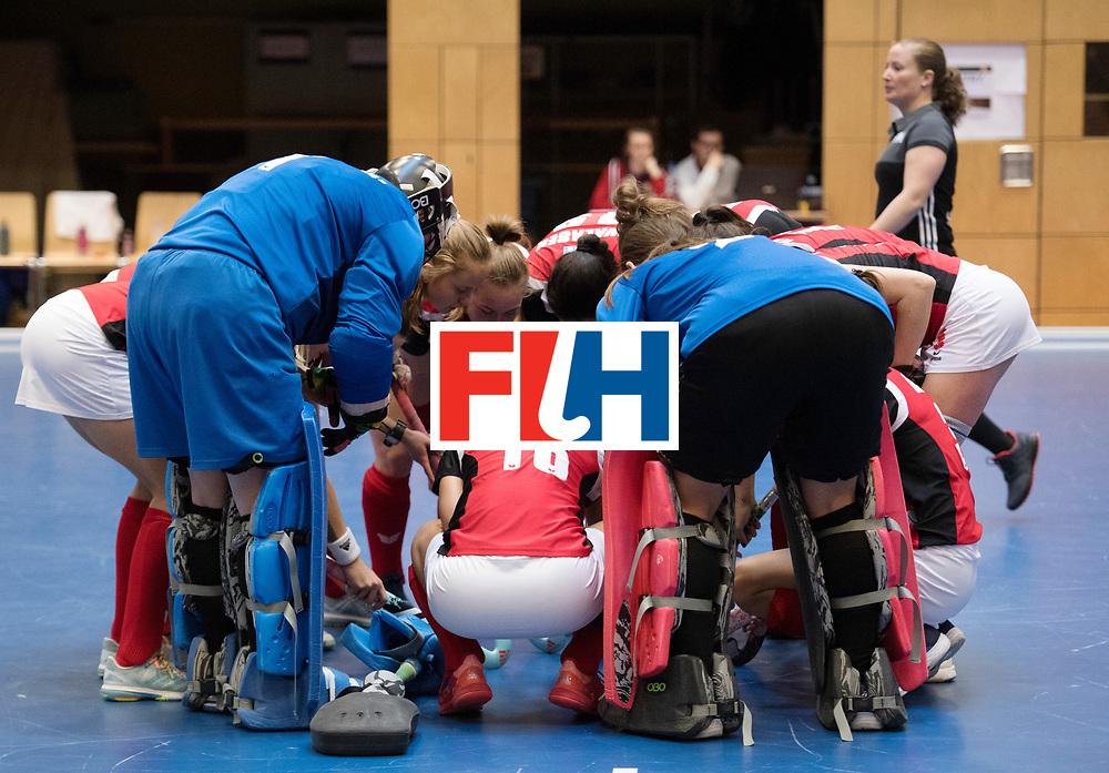 BERLIN - Indoor Hockey World Cup<br /> Switzerland - Poland<br /> foto: Line Up<br /> WORLDSPORTPICS COPYRIGHT FRANK UIJLENBROEK