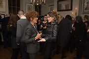 JULIA WATSON; ANNA STOTHARD; , The launch of Fire Child by Sally Emerson. Hosted by Sally Emerson and Naim Attalah CBE. Dean St. London. 22 March 2017