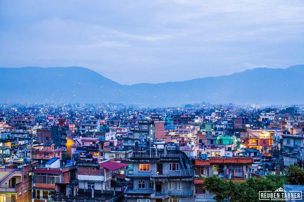 Looking out over the city of Kathmandu, Nepal.