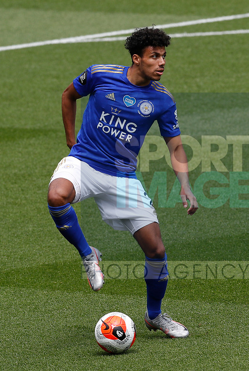 James Justin of Leicester City during the Premier League match at Vicarage Road, Watford. Picture date: 20th June 2020. Picture credit should read: Darren Staples/Sportimage