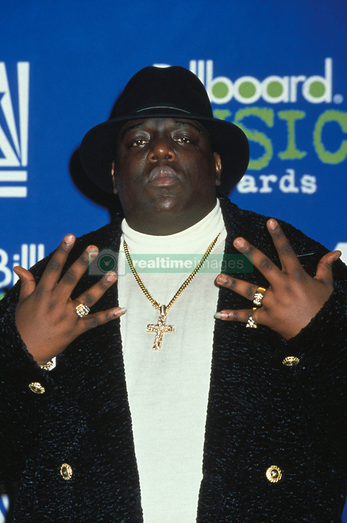 Dec. 7, 2012 - After 15 years, the Notorious B.I.G.'s autopsy report has been released. The autopsy report reveals Biggie's wounds and the fact that not all of his gunshot wounds were fatal. PICTURED: Dec. 6, 1995 - Las Vegas, Nevada, U.S. - Rapper BIGGIE SMALLS (aka Notorious B.I.G.) at the Billboard Music Awards. (Credit Image: © Jane Caine/ZUMAPRESS.com)