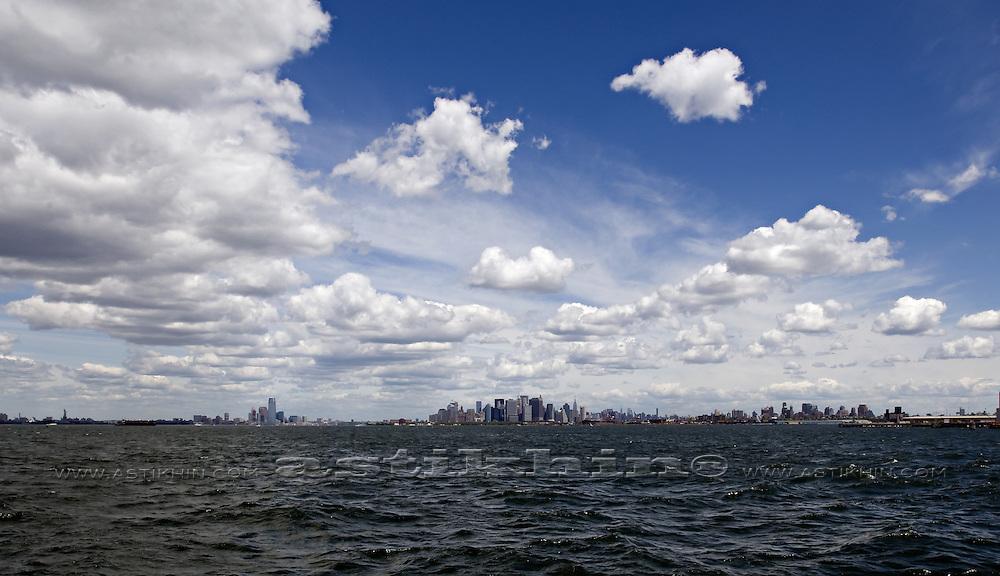New York on horizon