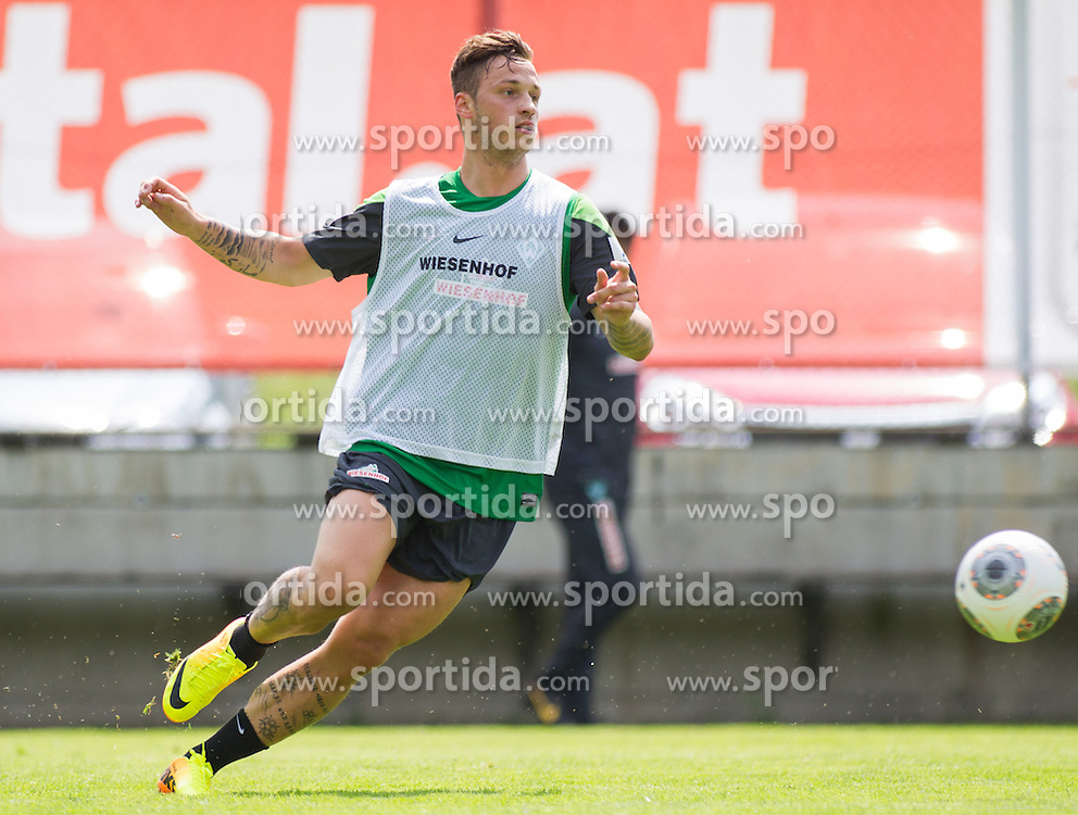 08.07.2013, Parkstadion, Zell am Ziller, AUT, SV Werder Bremen Trainingslager, im Bild Marko Arnautovic (SV Werder Bremen #7) // during Trainingsession of German Bundesliga Club SV Werder Bremen at the Parkstadium, Zell am Ziller, Austria on 2013/07/08. EXPA Pictures © 2013, PhotoCredit: EXPA/ Juergen Feichter