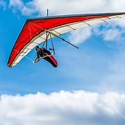 Diego Calderoni riding the thermals high above Hammett Idaho