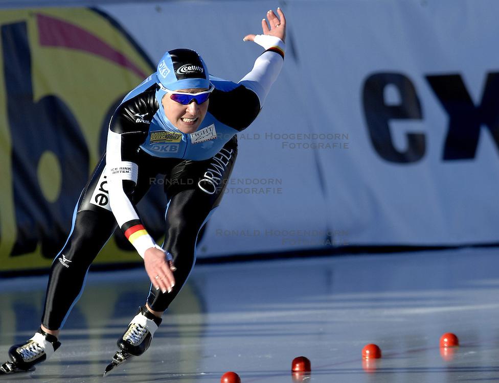 12-01-2007 SCHAATSEN: EUROPESE KAMPIOENSCHAPPEN: COLLALBO ITALIE <br /> Claudia Pechstein GER<br /> &copy;2007-WWW.FOTOHOOGENDOORN.NL