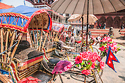 Rickshaw Taxi, Kathmandu Durbar Square in front of the old royal palace of the former Kathmandu Kingdom, Nepal