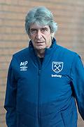 West Ham United Manager Manuel Pellegrini as he arrives for the Premier League match between Burnley and West Ham United at Turf Moor, Burnley, England on 30 December 2018.