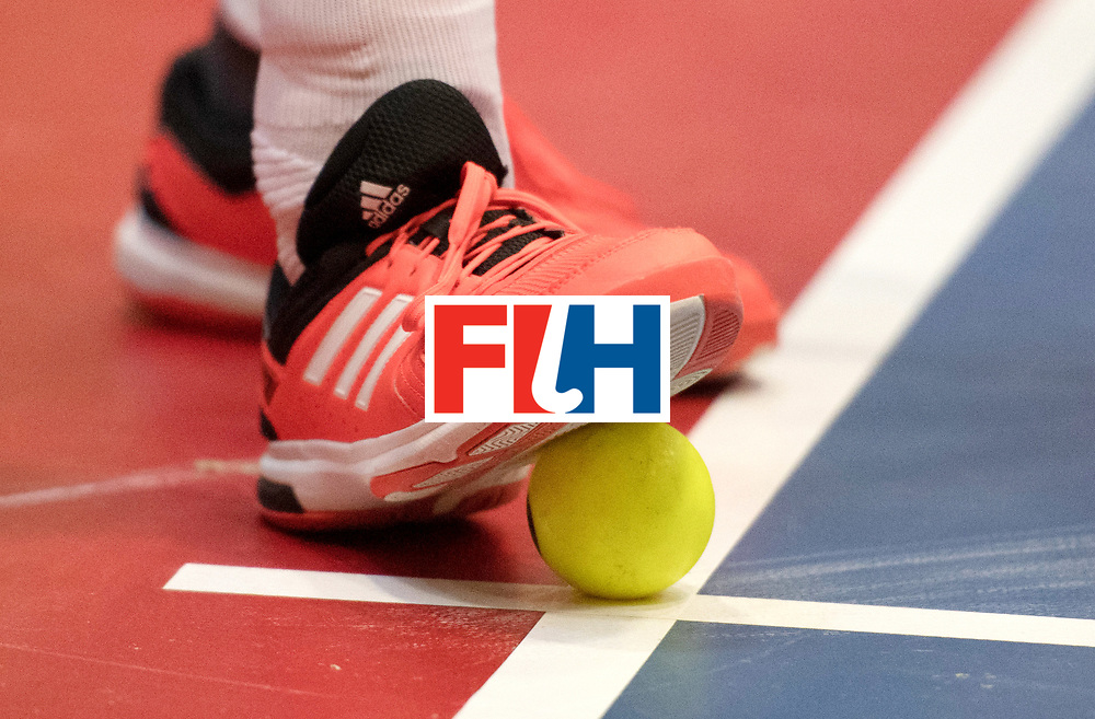 BERLIN - Indoor Hockey World Cup<br /> Austria - Belgium<br /> foto: <br /> WORLDSPORTPICS COPYRIGHT FRANK UIJLENBROEK
