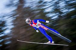 13.12.2013, Nordische Arena, Ramsau, AUT, FIS Nordische Kombination Weltcup, Skisprung, provisorischer Wettkampfdurchgang, im Bild Mario Stecher (AUT) // Mario Stecher (AUT) during Ski Jumping PCR Round of <br /> FIS Nordic Combined World Cup, at the Nordic Arena in Ramsau, Austria on 2013/12/13. EXPA Pictures © 2013, EXPA/ JFK
