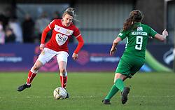Frankie Brown of Bristol City tries to get past Annie Heatherson of Yeovil Town Ladies - Mandatory by-line: Nizaam Jones/JMP - 27/01/2019 - FOOTBALL - Stoke Gifford Stadium - Bristol, England - Bristol City Women v Yeovil Town Ladies- FA Women's Super League 1