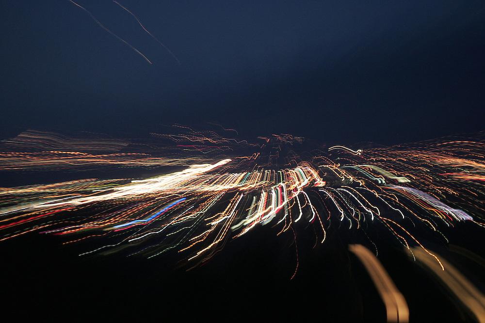 City lights looking north from North Salt Lake towards Ogden, Utah February 23, 2005