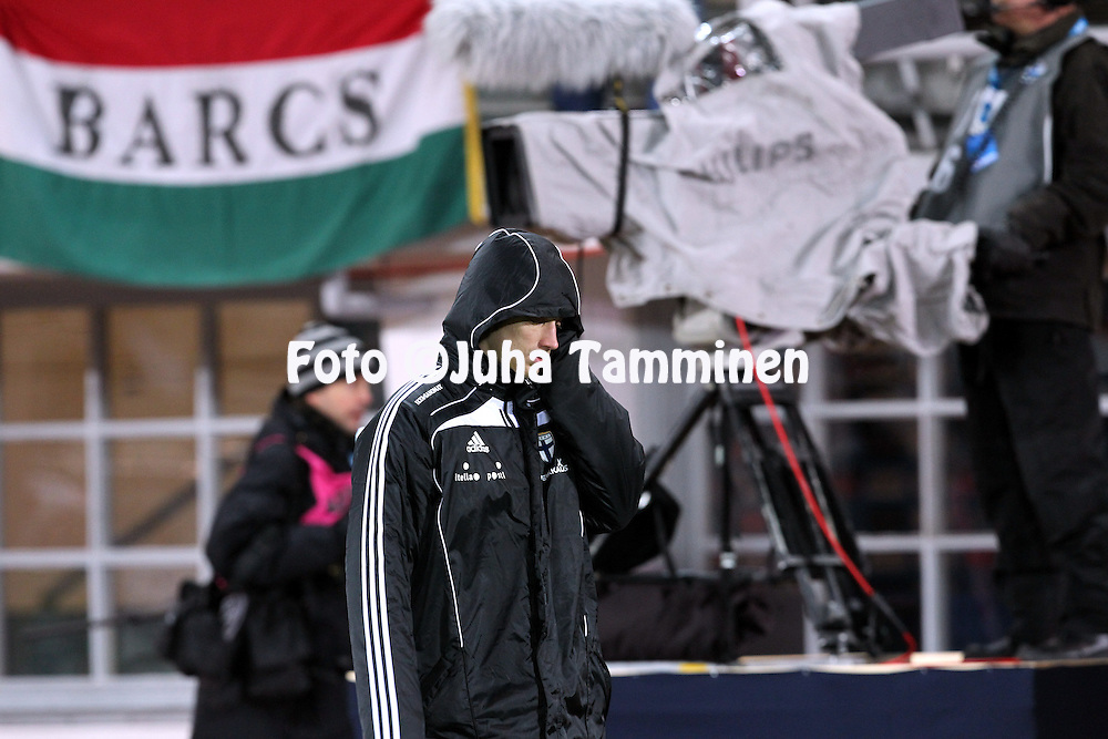 12.10.2010, Olympiastadion, Helsinki..EM-karsintaottelu Suomi - Unkari / UEFA 2012 European Championship Qualifying match Finland v Hungary..Roni Porokara (Finland) after the match..©Juha Tamminen.