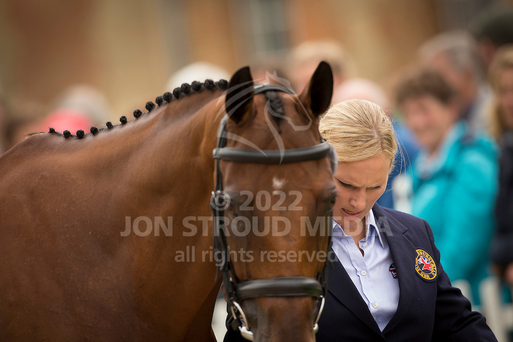 Zara Philips, (GBR), High Kingdom - First Horse Inspection  - Alltech FEI World Equestrian Games&trade; 2014 - Normandy, France.<br /> &copy; Hippo Foto Team - Dirk Caremans<br /> 25/06/14
