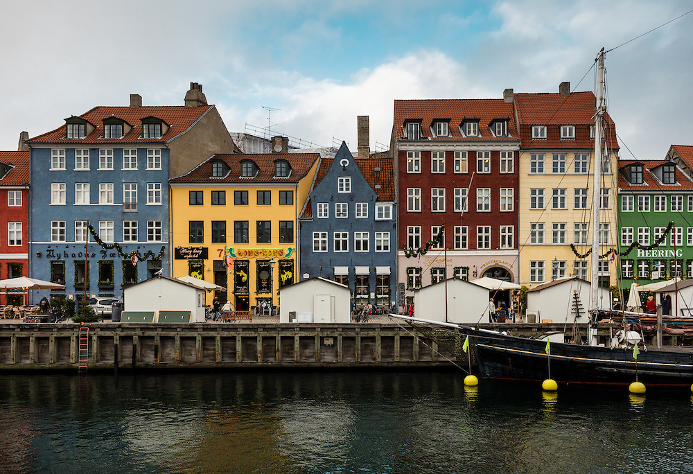 The colorful buildings of Nyhavn, Copenhagen.