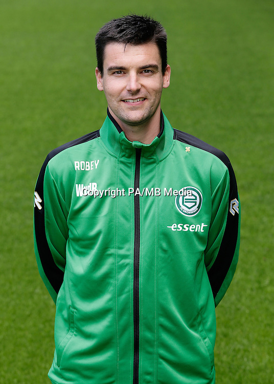 Manueel therapeut Wouter van den Berg of FC Groningen during the team presentation of FC Groningen on June 29, 2015 at the Euroborg in Groningen, The Netherlands.