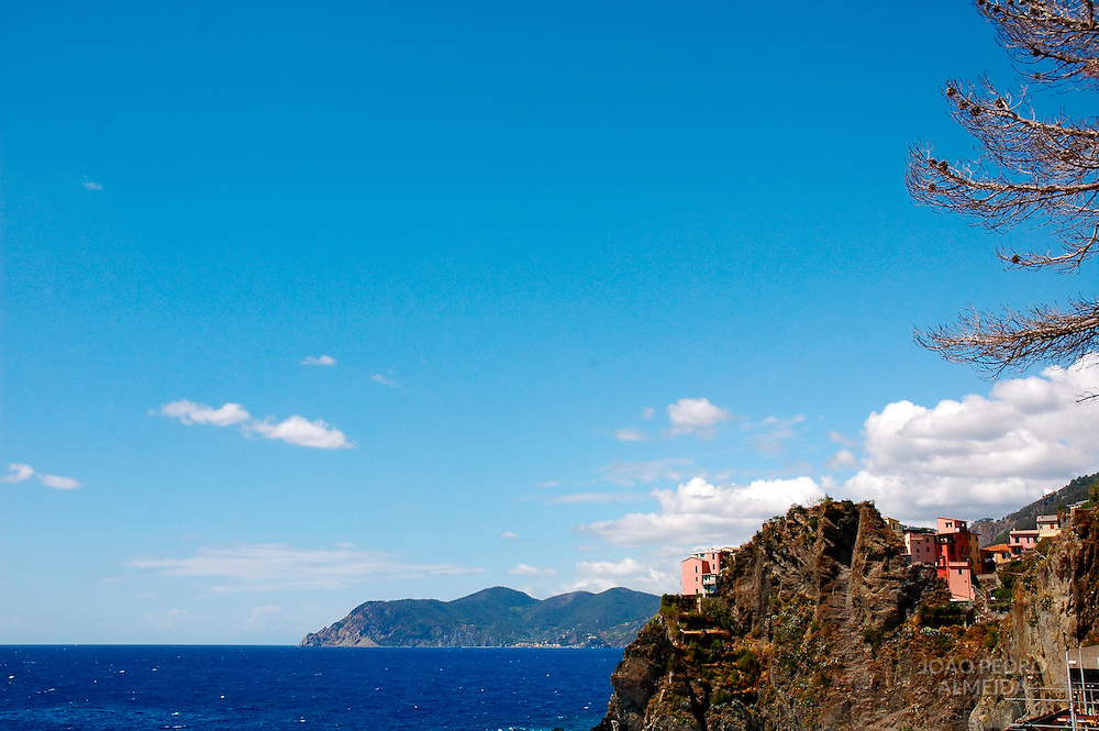 View of houses at CInque Terre, Italy
