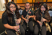 Members of the Whittier Elementary School Band perform during the State of the Schools luncheon at the Hilton of the Americas, February 15, 2017.