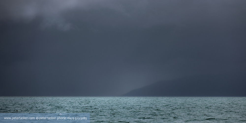 Stormy weather in Waiheke Channel.