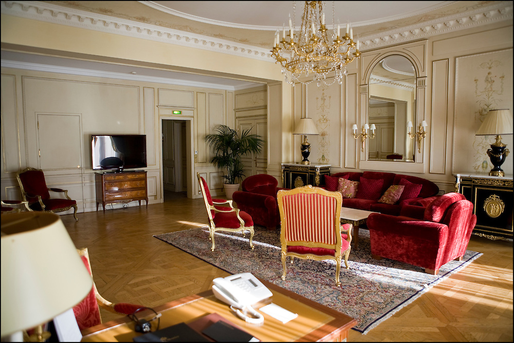 Hotel le Meurice inside a suite, rue de Rivoli, Paris on December 22th, 2010. ©Benjamin Girette