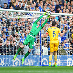 Wayne Hennessey of Crystal Palace makes a save during Chelsea vs Crystal Palace, Premier League , 01.04.17 (c) Harriet Lander | SportPix.org.uk