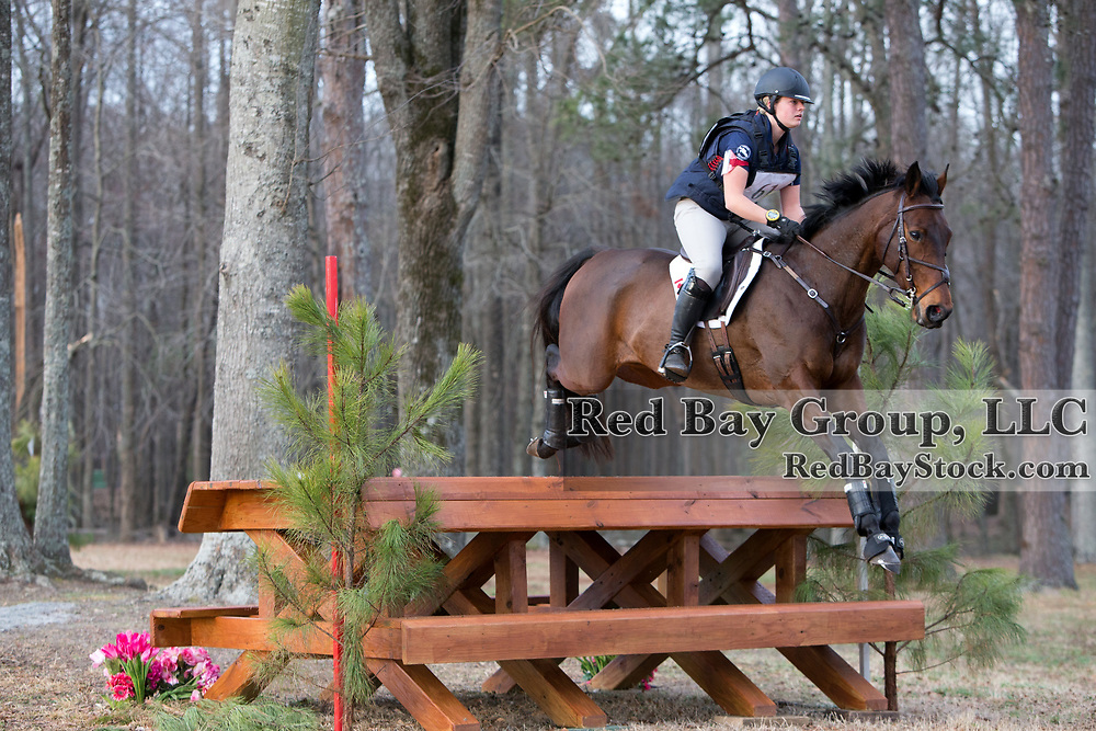 Jamie Kellock (CAN) and Don't Blink at the 2014 Pine Top Spring Advanced Horse Trials in Thomson, Georgia.