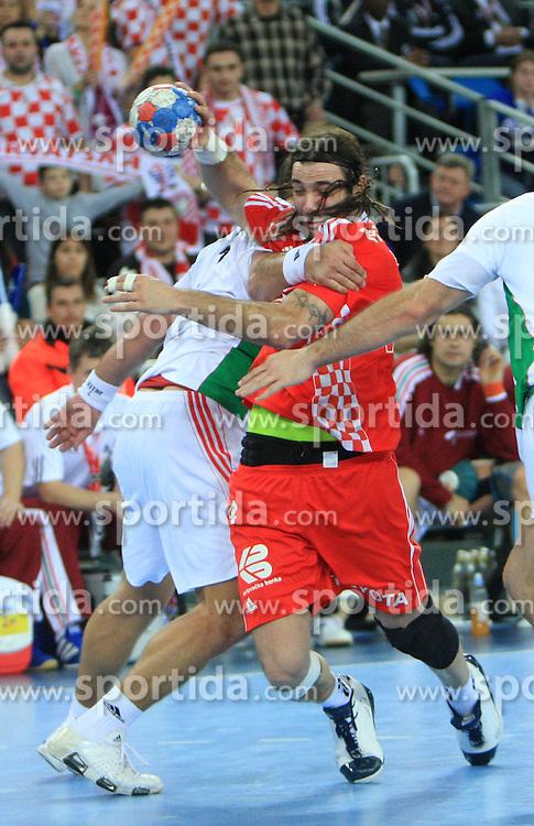 Ivano Balic (4) of Croatia during 21st Men's World Handball Championship 2009 Main round Group I match between National teams of Croatia and Hungary, on January 24, 2009, in Arena Zagreb, Zagreb, Croatia.  (Photo by Vid Ponikvar / Sportida)