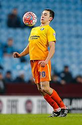Luke O'Nien of Wycombe Wanderers in action - Mandatory byline: Rogan Thomson/JMP - 19/01/2016 - FOOTBALL - Villa Park Stadium - Birmingham, England - Aston Villa v Wycombe Wanderers - FA Cup Third Round Replay.