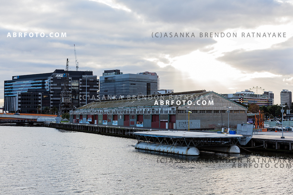 One of the last remaining shipping shipyards on South wharf Melbourne Victoria Australia