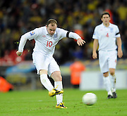 England v Ukraine 2010 FIFA World Cup Qualifier 01.04.09. Wayne Rooney England 2008/09