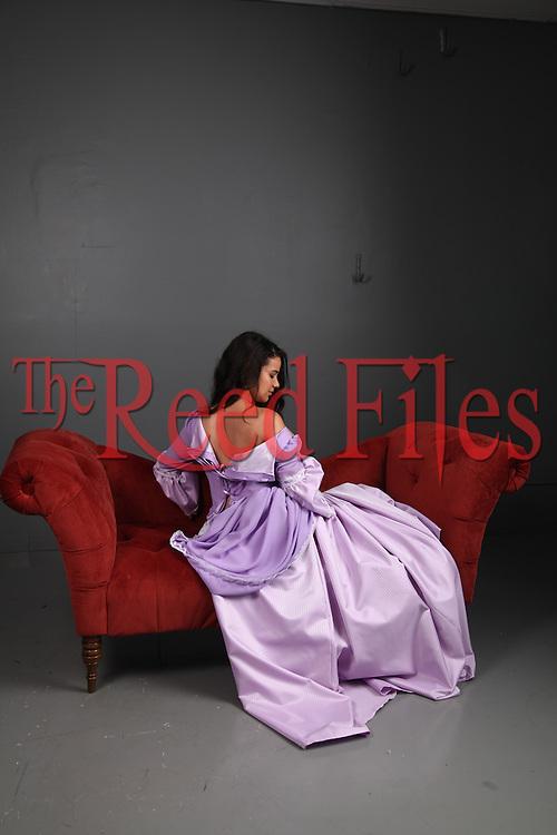Historical Woman in beautiful purple dress