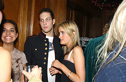 LORD FREDERICK WINDSOR and MISS VIOLET VON WESTENHOLTZ at a party hosted by Tatler magazine to celebrate the publication of the 2004 Little Black Book held at Tramp, 38 Jermyn Street, London SW1 on 10th November 2004.<br />