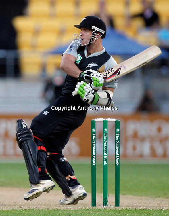 Gareth Hopkins New Zealand v Australia Twenty20 cricket match. Westpac Stadium, Wellington. Friday 26 February 2010. Photo: Anthony Phelps/PHOTOSPORT