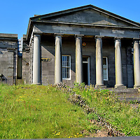 City Observatory Playfair Building in Edinburgh, Scotland <br />