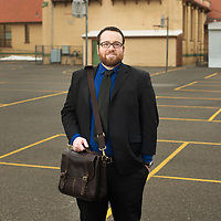Dan Ophardt is working as a fellow with Team Child, a non-profit organization in Spokane. He serves as an advocate for school-aged children facing disciplinary action and serves as legal representation for those whose cases progress to the legal system. (Photo by Rajah Bose)
