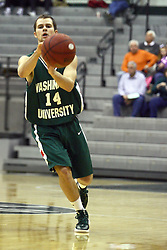 17 December 2011:  Ben Hoener during an NCAA mens division 3 basketball game between the Washington University Bears and the Illinois Wesleyan Titans in Shirk Center, Bloomington IL
