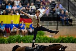 PALMER Colton (USA), Zygo<br /> Tryon - FEI World Equestrian Games™ 2018<br /> Nations Team Vaulting Championship<br /> 19. September 2018<br /> © www.sportfotos-lafrentz.de/Stefan Lafrentz