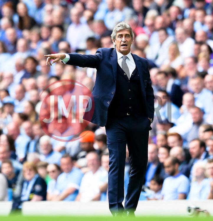 Manchester City Manager, Manuel Pellegrini  - Mandatory byline: Matt McNulty/JMP - 07966386802 - 29/08/2015 - FOOTBALL - Etihad Stadium -Manchester,England - Manchester City v Watford - Barclays Premier League