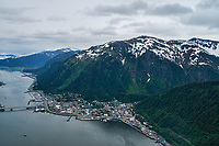 Aerial View, City of Juneau & Mount Juneau