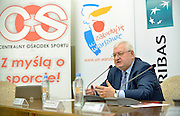 (R) Janusz Zaorski - Polish famous film director during press conference the BNP Paribas Davis Cup 2014 between Poland and Croatia at Wedding Palace in Warsaw on March 25, 2014.<br /> <br /> Poland, Warsaw, March 25, 2014<br /> <br /> Picture also available in RAW (NEF) or TIFF format on special request.<br /> <br /> For editorial use only. Any commercial or promotional use requires permission.<br /> <br /> Mandatory credit:<br /> Photo by &copy; Adam Nurkiewicz / Mediasport