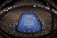 Novak Djokovic (SRB) And Andy Murray (GBR). Day 14. Mens Singles Final. Australian Open Grand Slam Tennis Championship. Rod laver Arena, Melbourne Park, Melbourne, Victoria, Australia. 27/01/2013. Photo By Lucas Wroe
