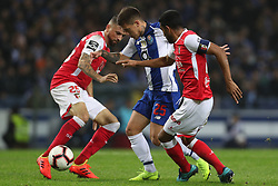 November 10, 2018 - Porto, Porto, Portugal - Porto's Brazilian midfielder Otavio (C) vies with Sporting Braga's Brazilian defender Marcelo Goiano (R) and Sporting Braga's Brazilian midfielder Claudemir (L) during the Premier League 2018/19 match between FC Porto and SC Braga, at Dragao Stadium in Porto on November 9, 2018. (Credit Image: © Dpi/NurPhoto via ZUMA Press)