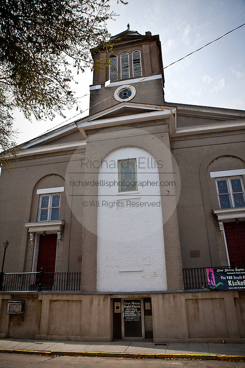 First African Baptist Church founded in 1773 in Savannah, Georgia, USA.