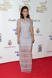 © Licensed to London News Pictures. 03/05/2015. London, UK. Katie Melua arrives at the Midsummer Ball in Whitehall, London in aid of Together for Short Lives, the UK charity for seriously ill children. Photo credit : Vickie Flores/LNP
