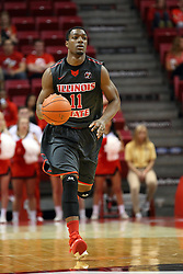 08 November 2015: MiKyle McIntosh(11). Illinois State Redbirds host the Southern Indiana Screaming Eagles and beat them 88-81 in an exhibition game at Redbird Arena in Normal Illinois (Photo by Alan Look)