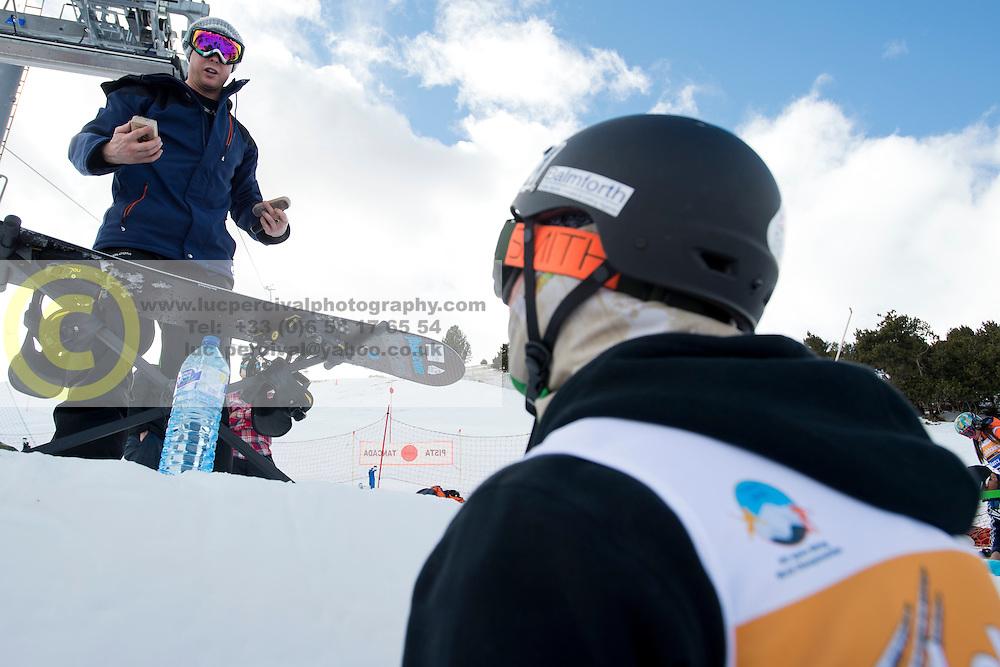Official Training, 2015 IPC Snowboarding World Championships, La Molina, , Spain